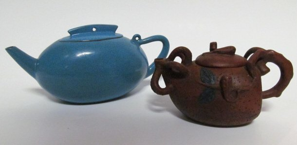 TWO CHINESE YIXING WARE TEAPOTS