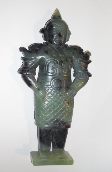 CHINESE SERPENTINE FIGURAL CARVING