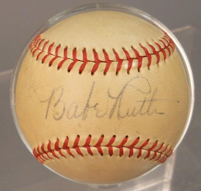 1948 BABE RUTH AUTOGRAPHED BASEBALL
