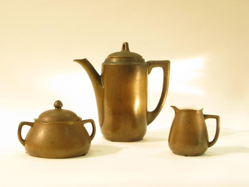 COPPER CLAD TEA SET