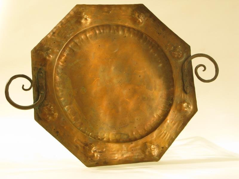 HAND WROUGHT COPPER TRAY