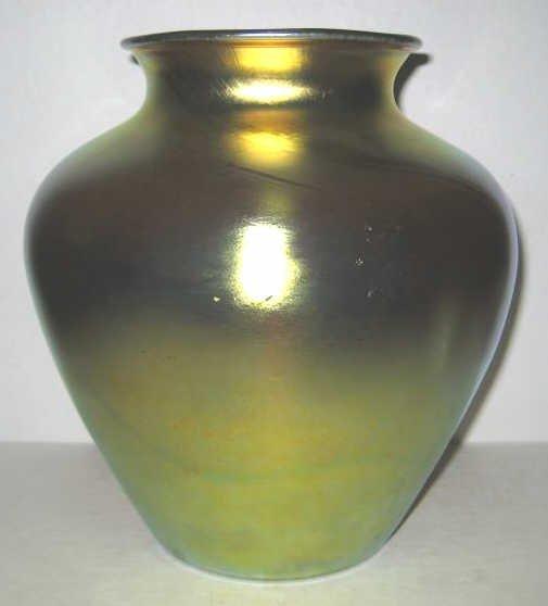 STEUBEN AURENE GLASS VASE