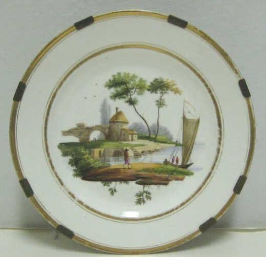 FRENCH OLD PARIS PORCELAIN CABINET PLATE