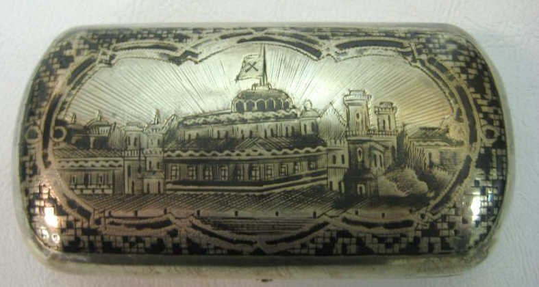 RUSSIAN NIELO SILVER TOBACCO BOX