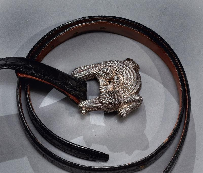 ALLIGATOR BELT, BARRY KIESELSTEIN-CORD