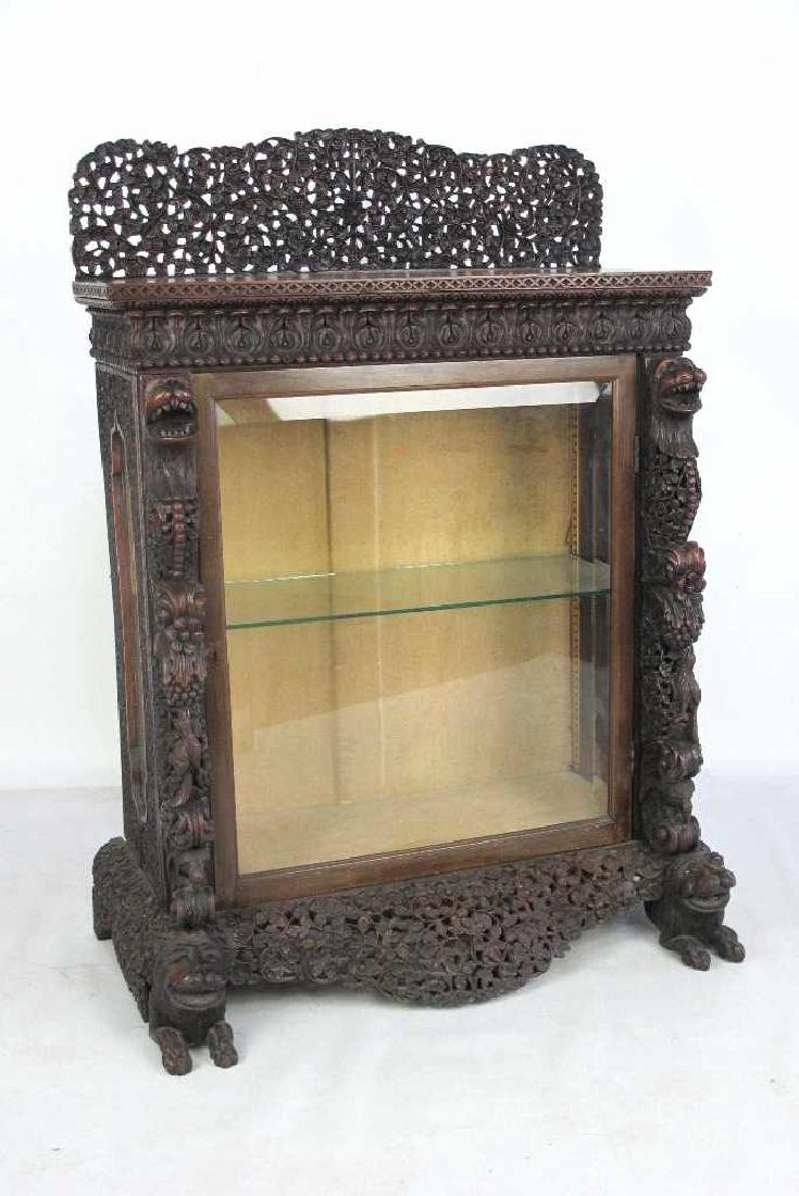 Fine 19th C. Anglo Indian Vitrine