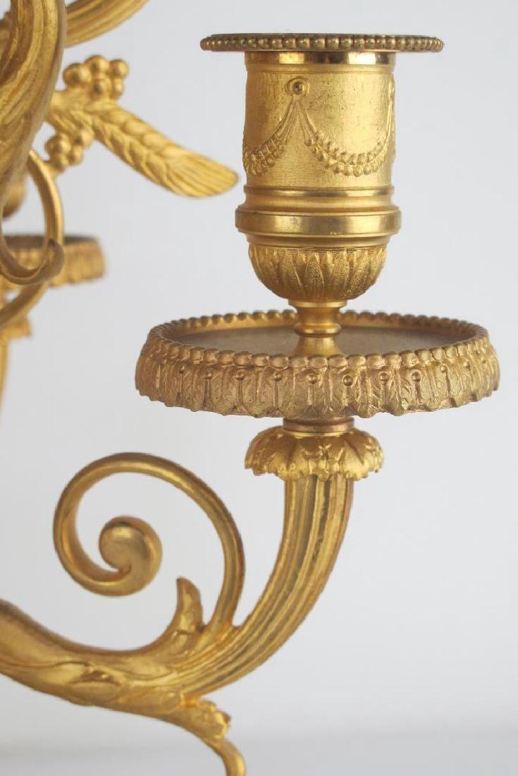 Pair 19th C. Fine French Gilt Bronze Candelabras - 6