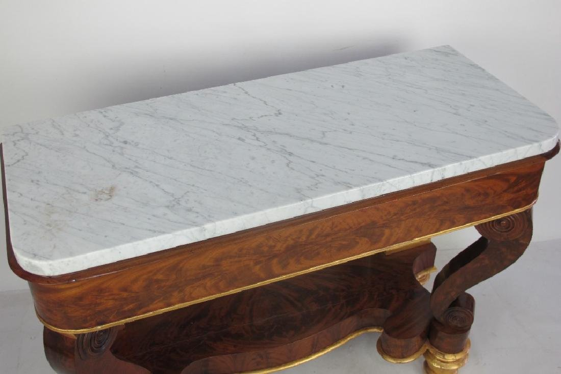 American Empire Marble Top Console Table - 5