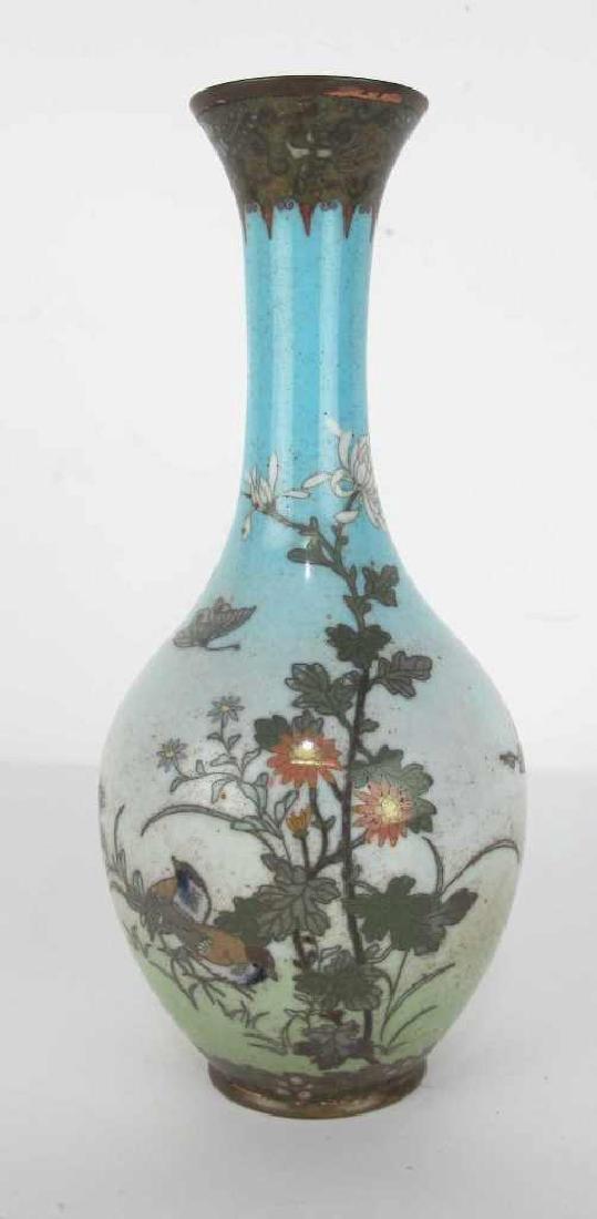 Cloisonne Vase with Nature Motif