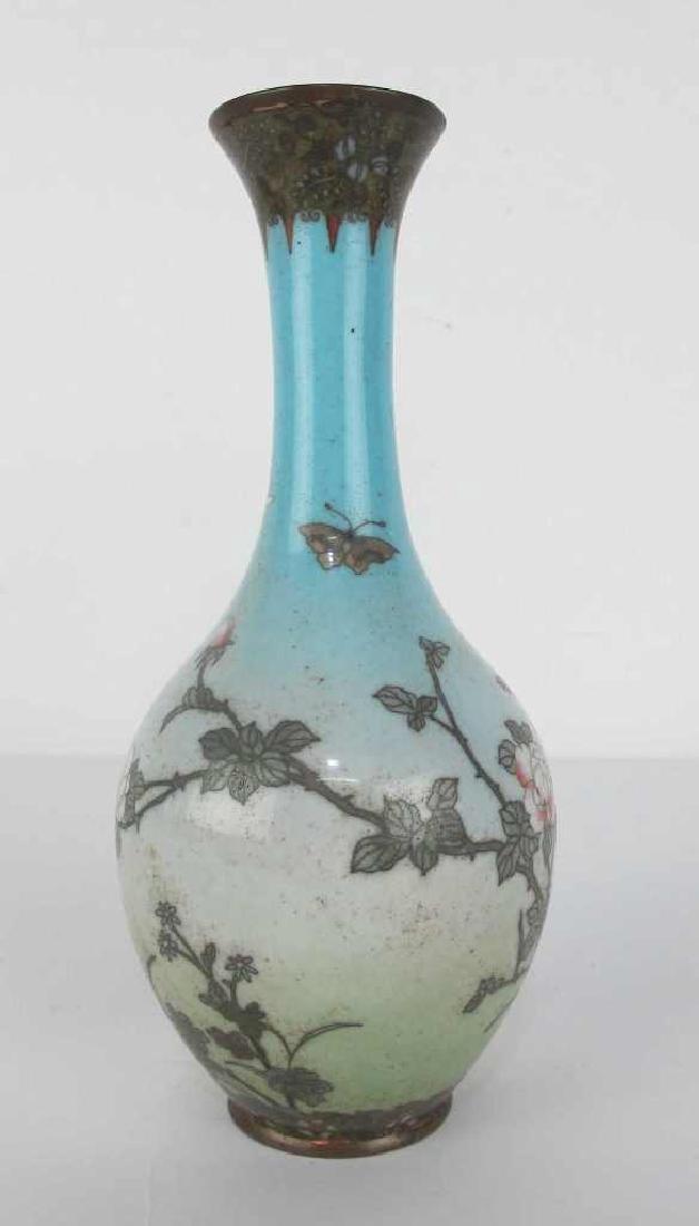 Cloisonne Vase with Nature Motif - 4