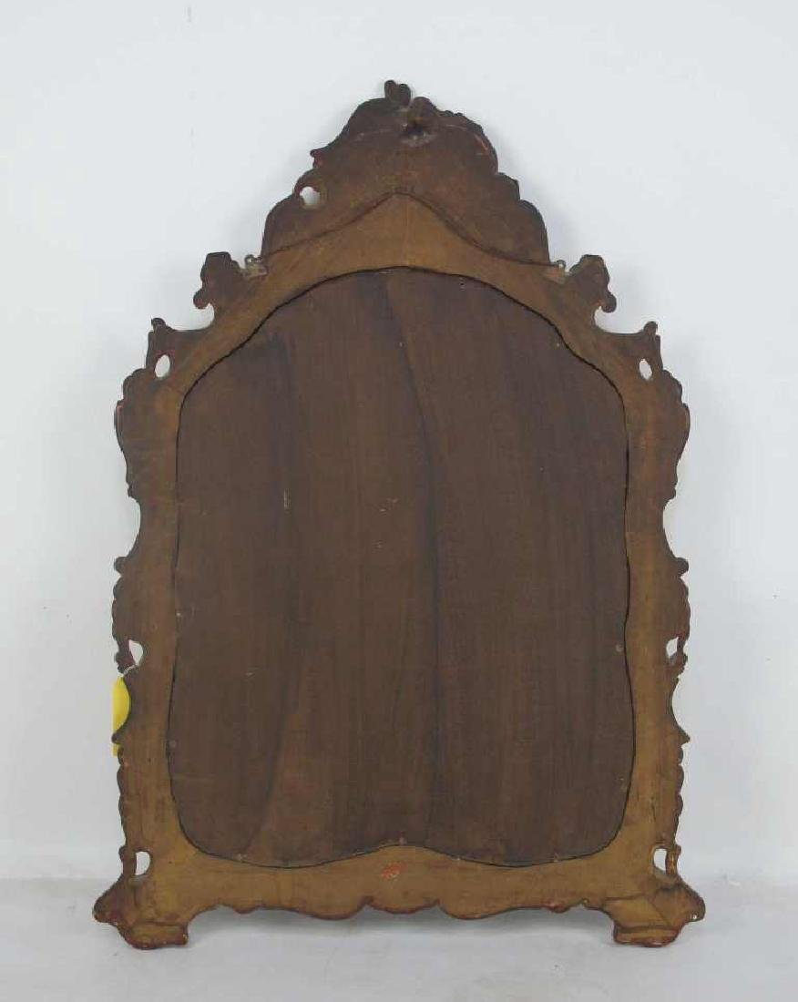 19th C. Venetian Red Decorated Mirror - 6