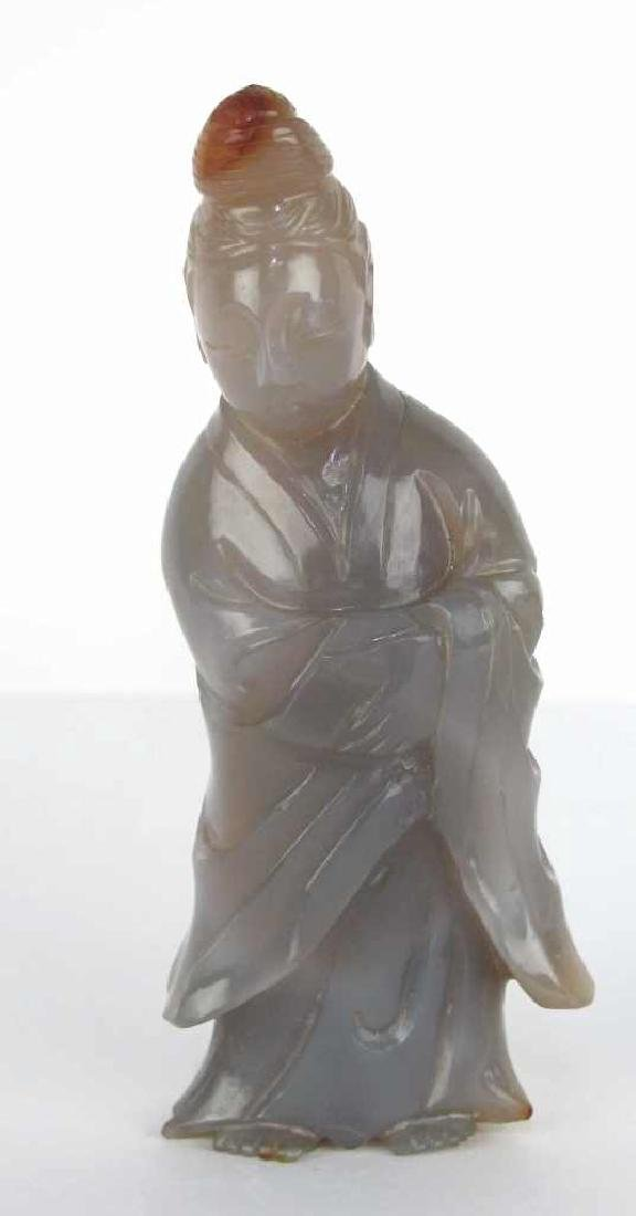 Carved Stone Chinese Figure