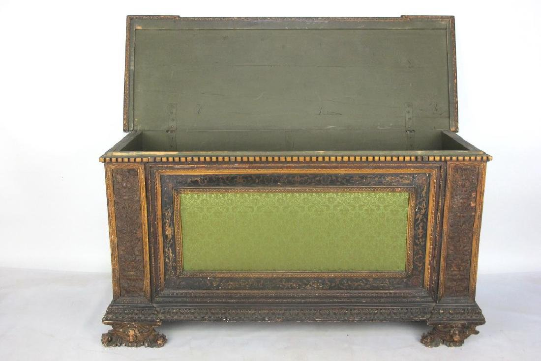 18th/19th C. Italian Polychrome Painted Chest - 7