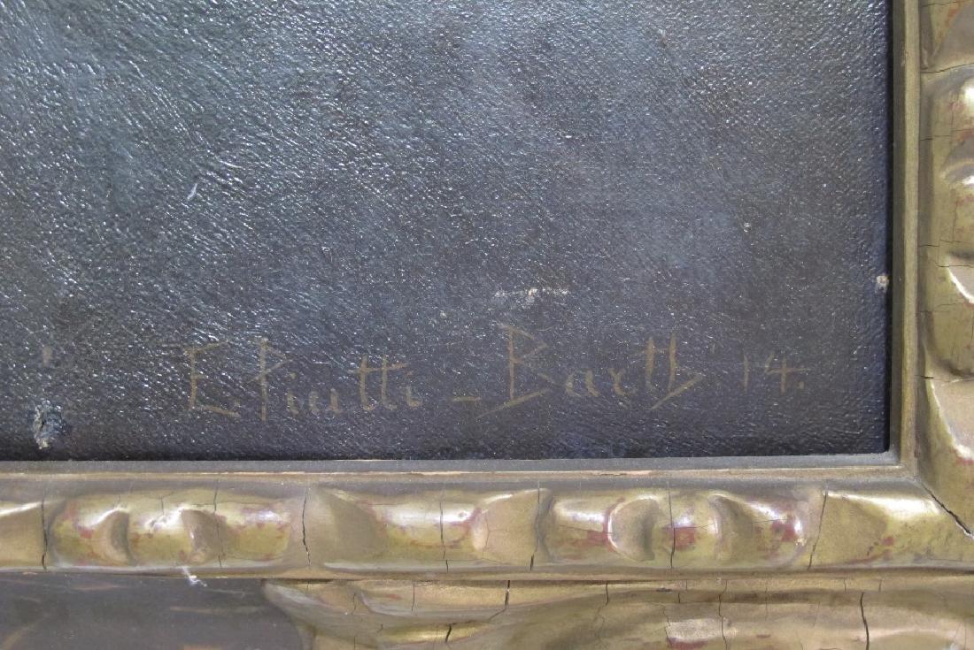 Elizabeth Piutti-Barth (1872-1959) Oil on Canvas - 4