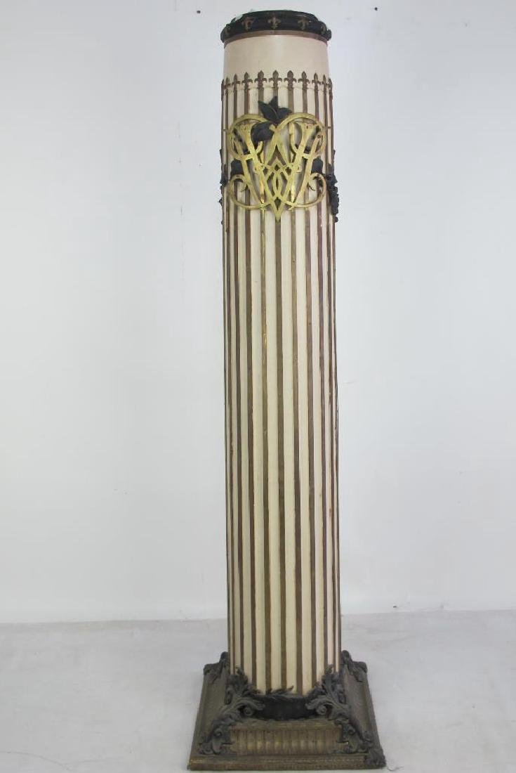 French Decorated Column Clock - 7
