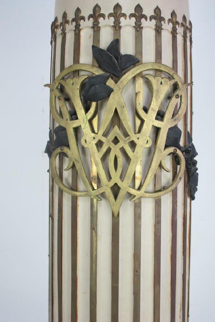 French Decorated Column Clock - 8