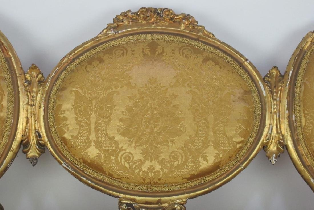 Carved Gilt Wood Chairs and Settee - 3