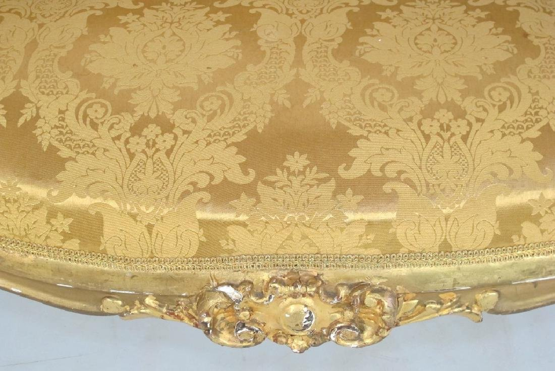 Carved Gilt Wood Chairs and Settee - 4