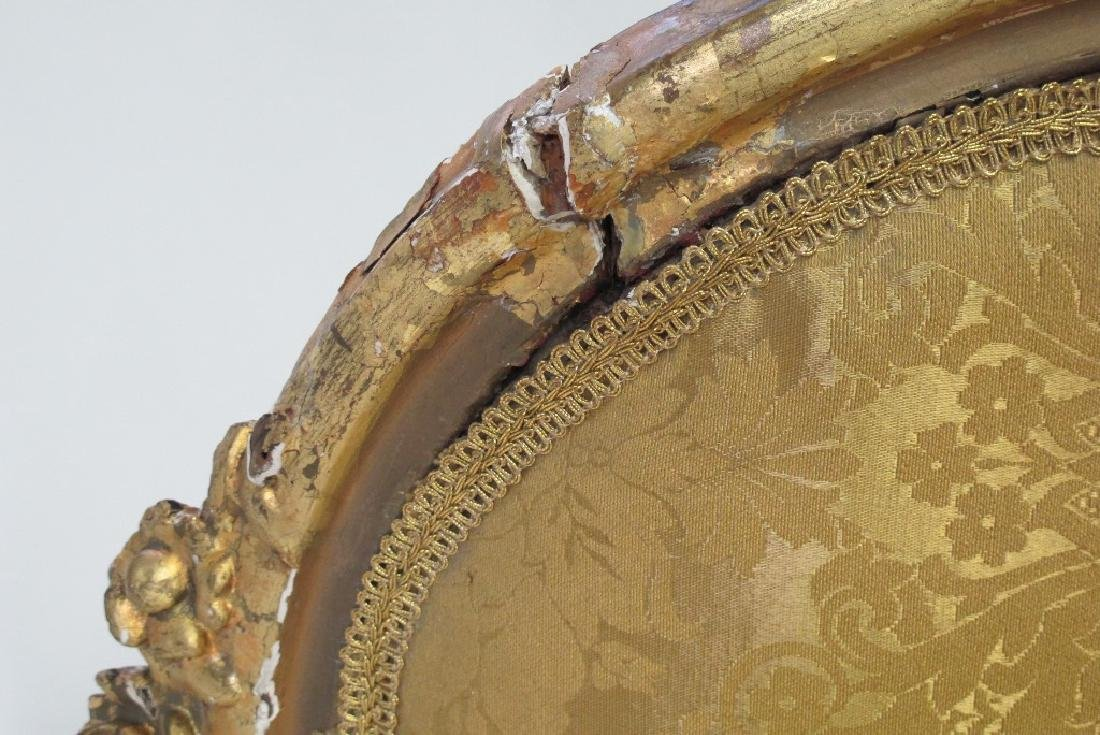 Carved Gilt Wood Chairs and Settee - 5