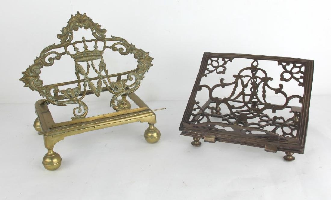 Lot of Two Bronze Book Stands