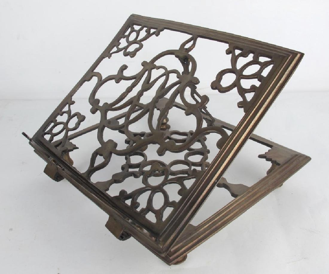 Lot of Two Bronze Book Stands - 2