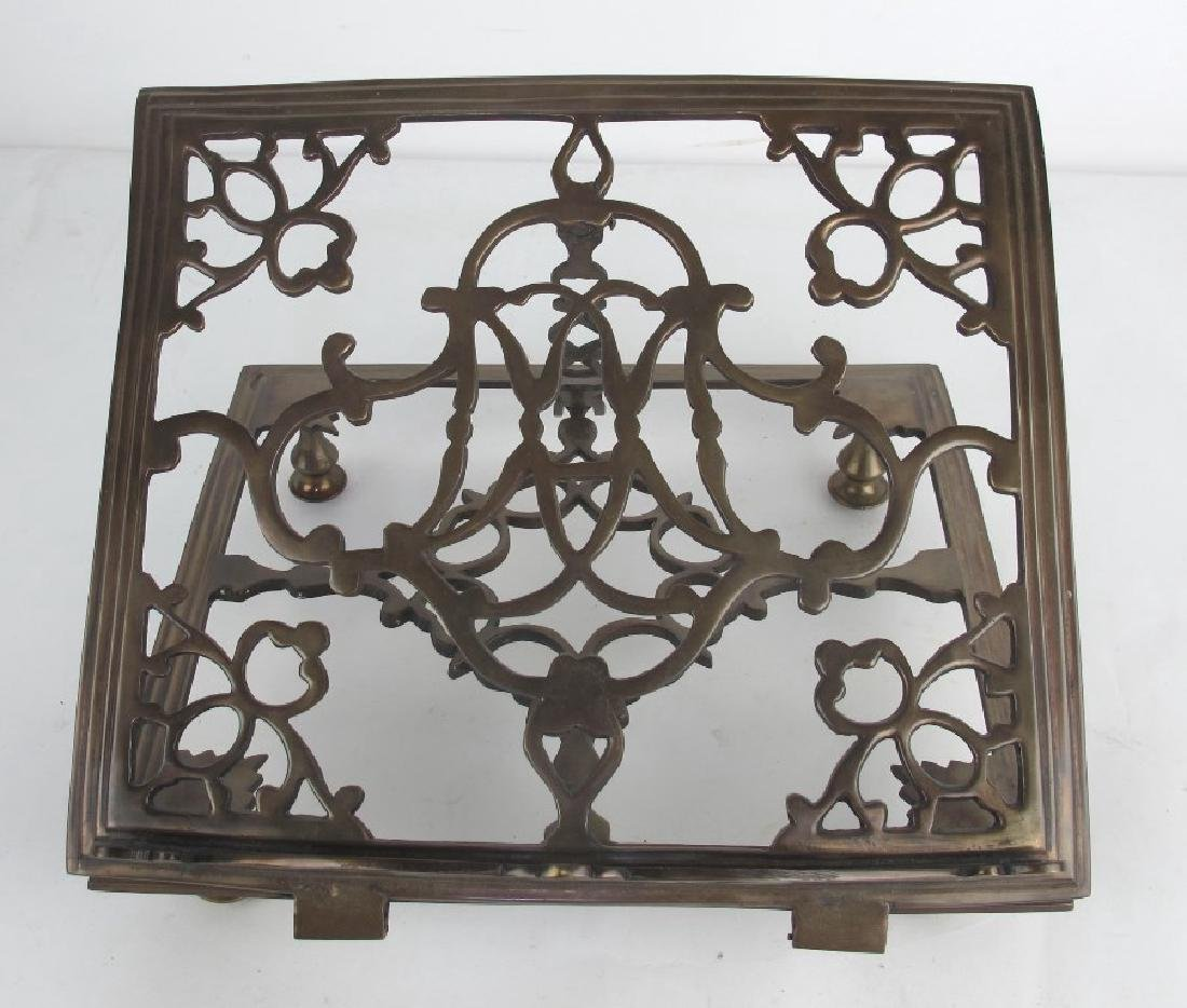 Lot of Two Bronze Book Stands - 3