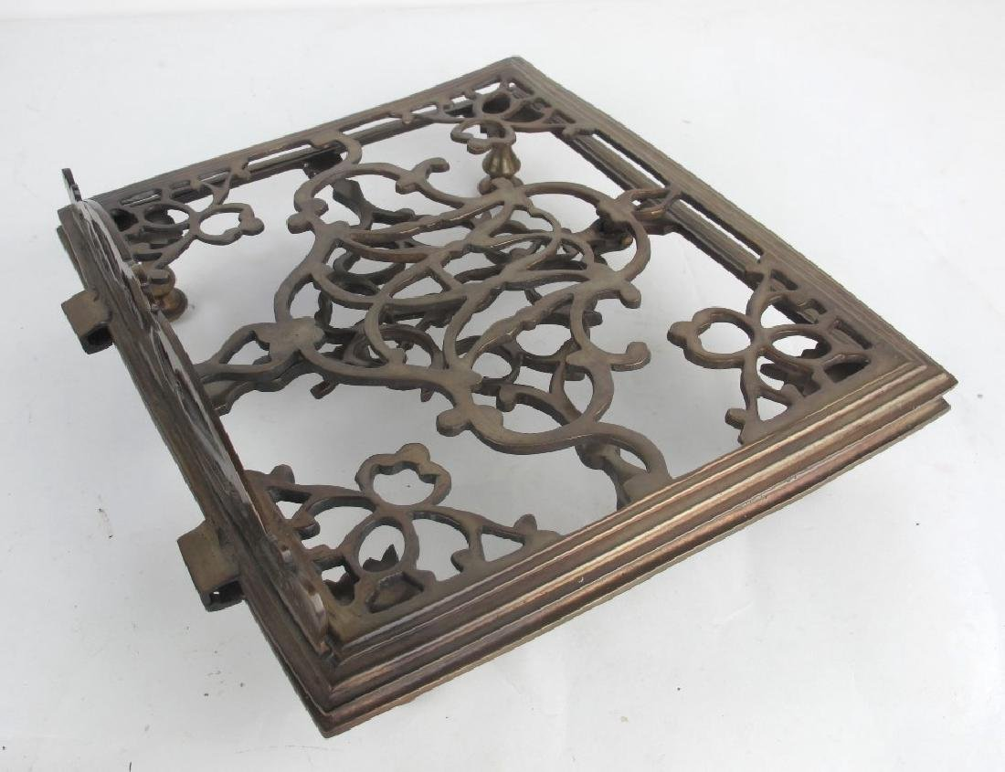Lot of Two Bronze Book Stands - 4