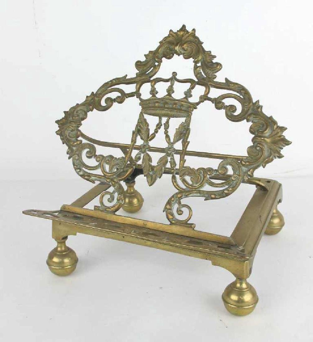Lot of Two Bronze Book Stands - 5