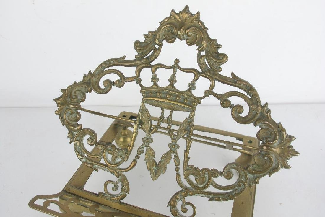 Lot of Two Bronze Book Stands - 6