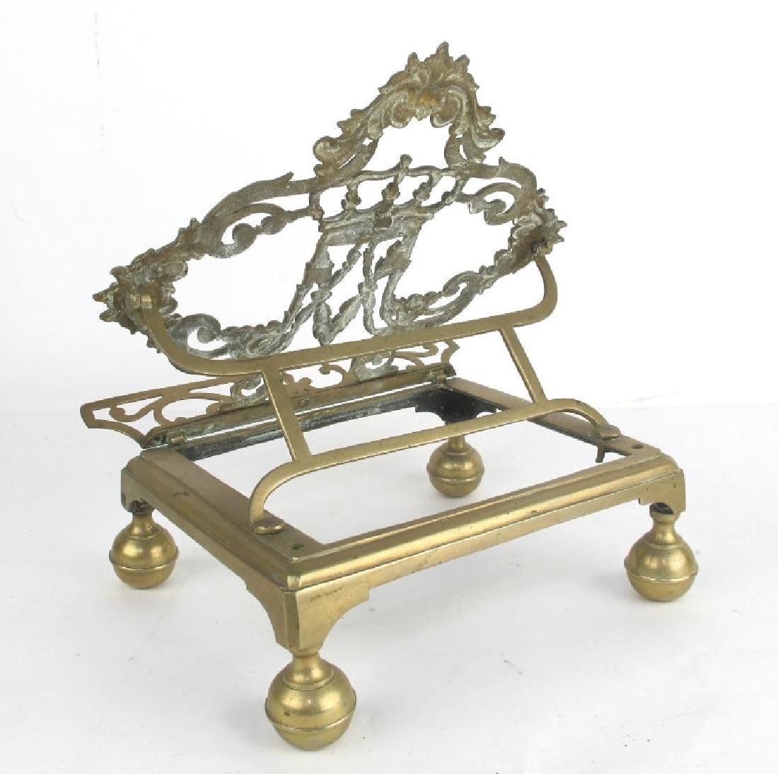 Lot of Two Bronze Book Stands - 7