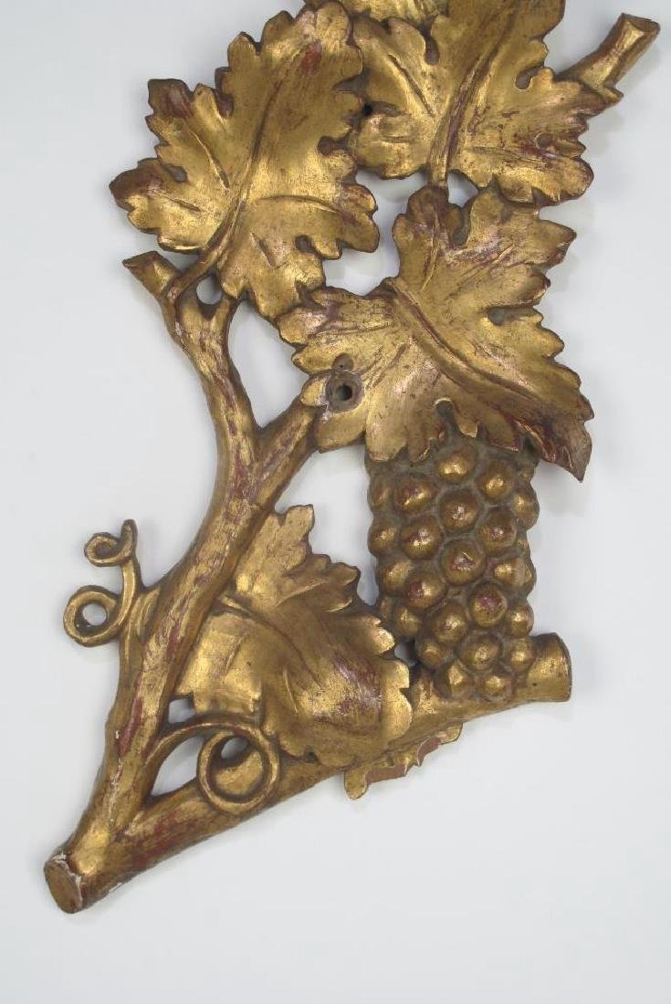 Pair Large Gilt Wood Fragment - 3