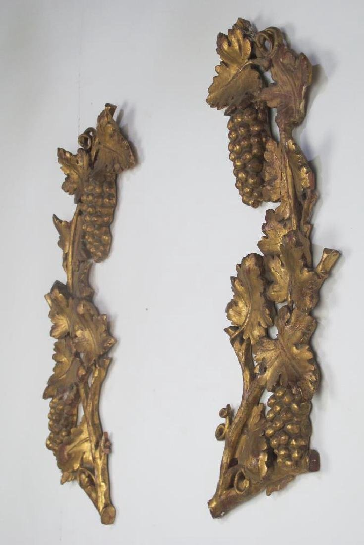 Pair Large Gilt Wood Fragment - 4