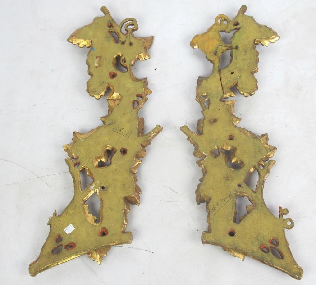 Pair Large Gilt Wood Fragment - 5