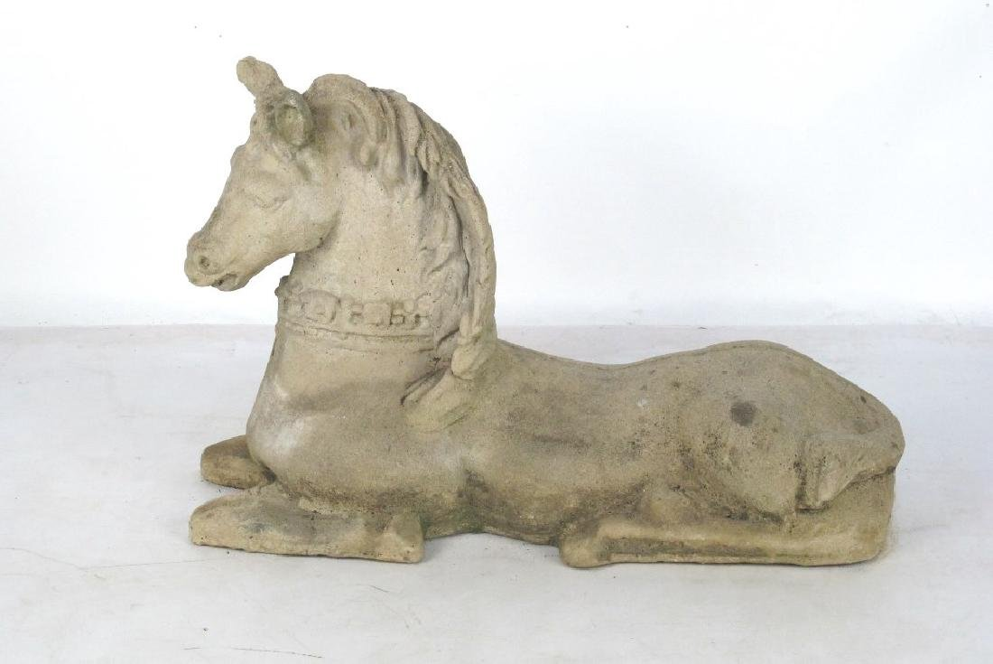 Cast Stone Model of a Horse