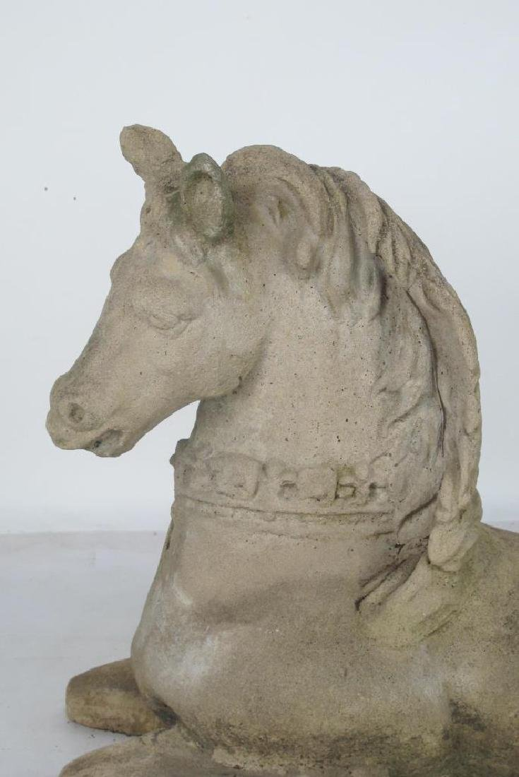 Cast Stone Model of a Horse - 2