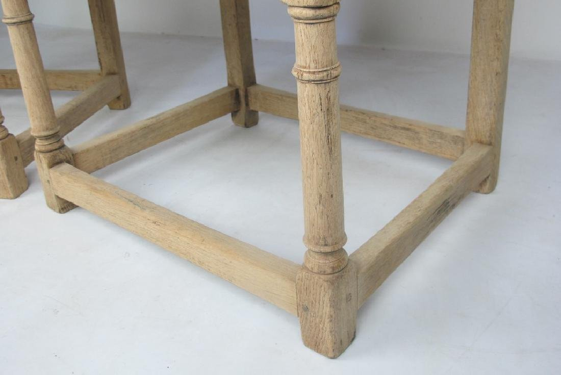 Pair of 19th C. Bleached Oak Armchairs - 5