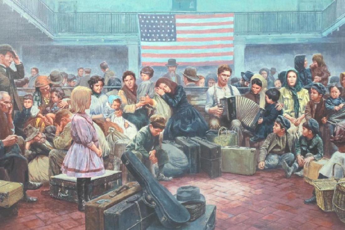 Mort Kunstler Signed Ellis Island Serigraph - 2