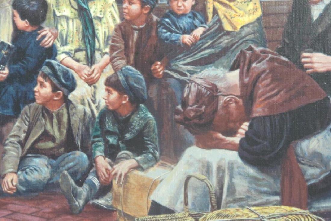 Mort Kunstler Signed Ellis Island Serigraph - 3