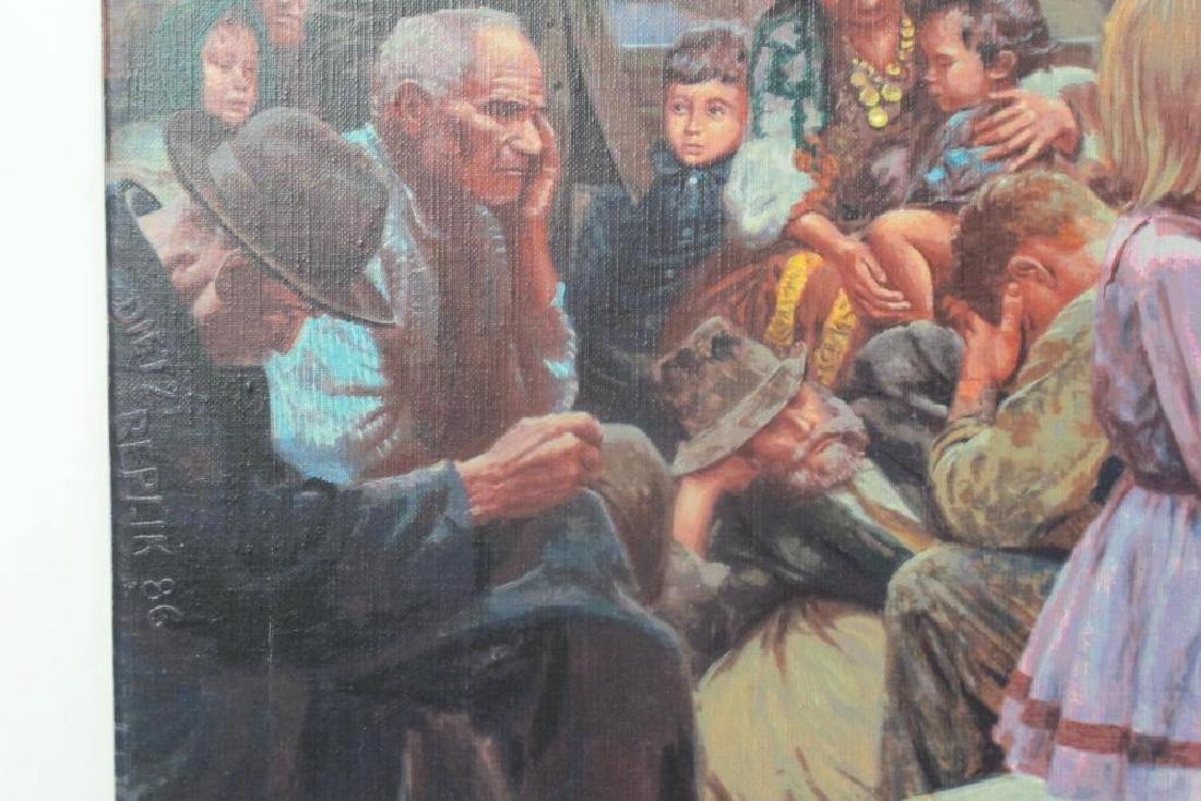 Mort Kunstler Signed Ellis Island Serigraph - 6