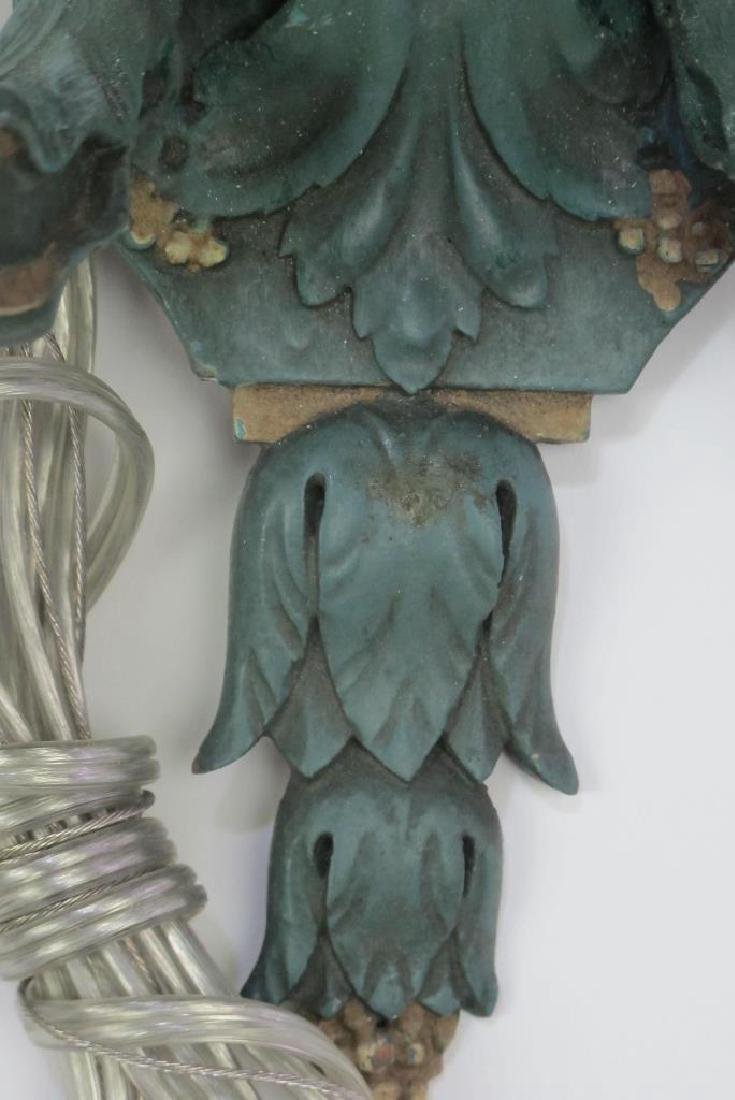 Pair Fine Late 19th C. French Wood Carved Sconces - 5