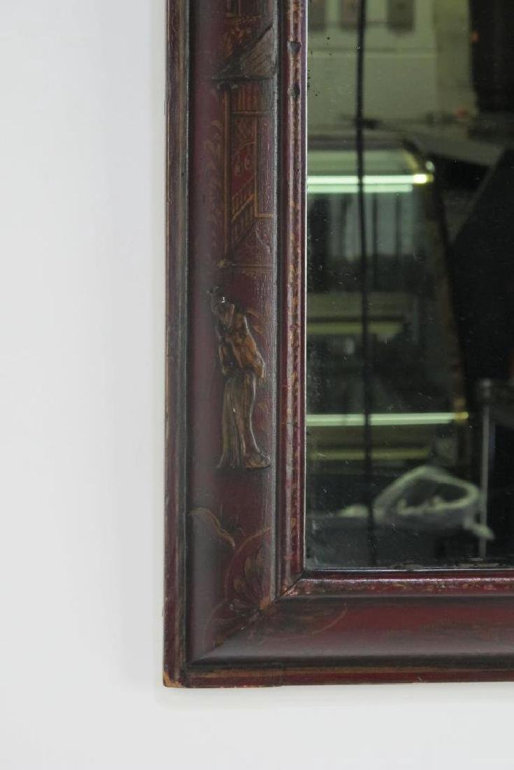 18th C. English Red Mirror - 2