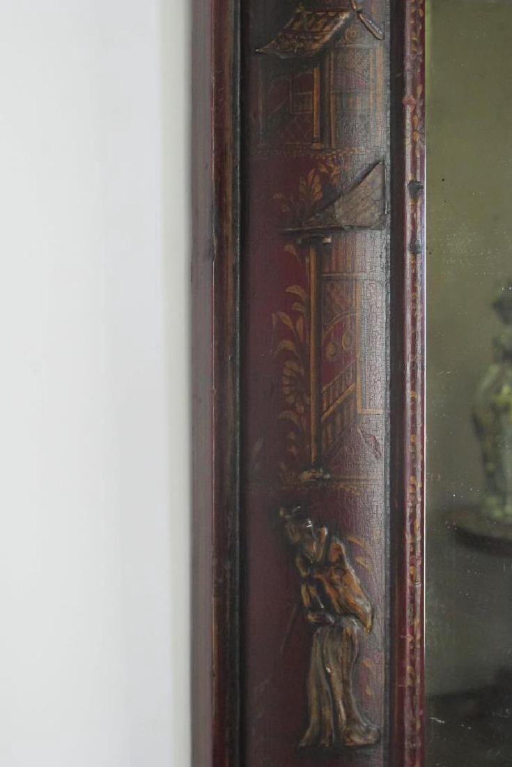 18th C. English Red Mirror - 3