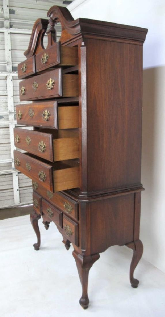 Mahogany Highboy - 9