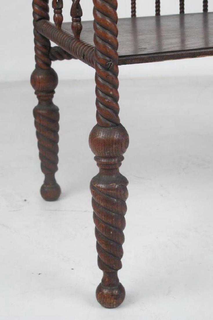 American Oak Victorian Stick & Ball Etagere - 4