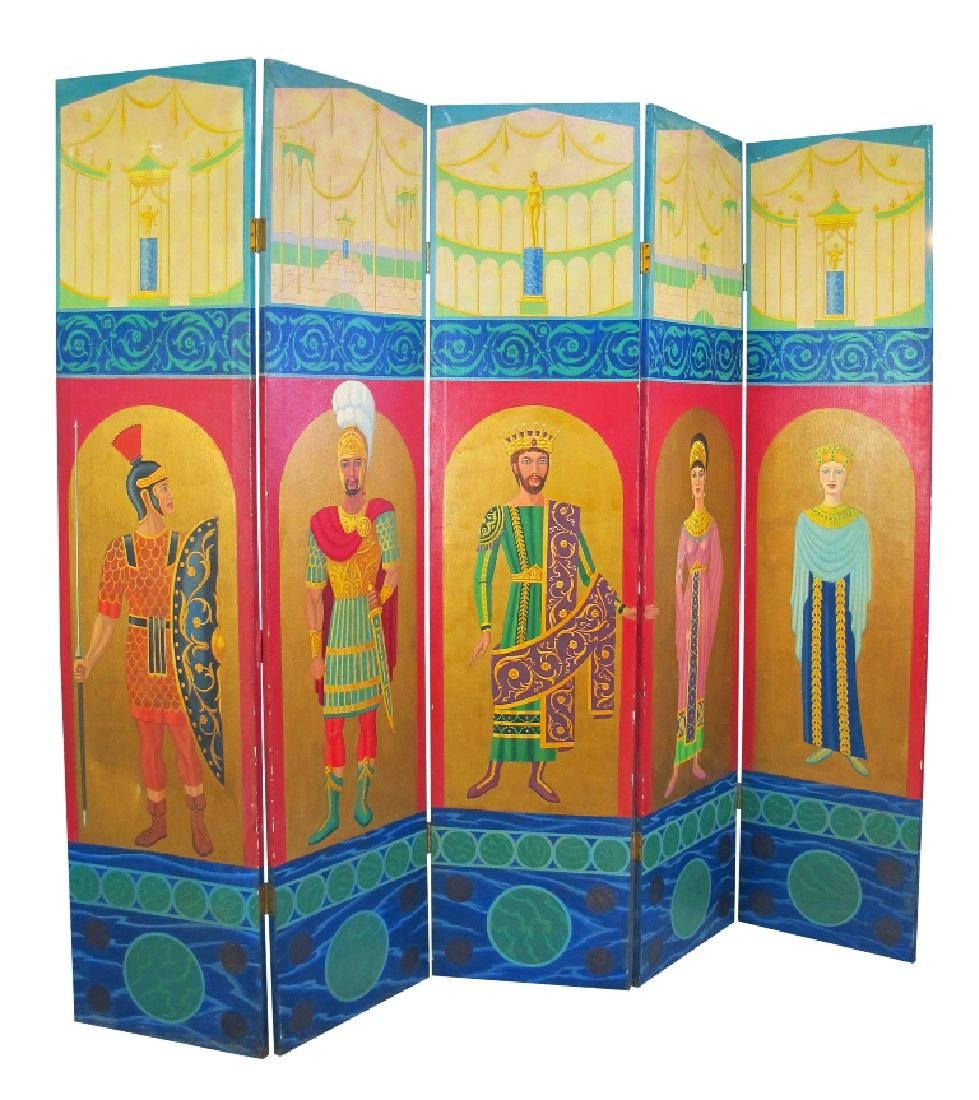Hand Painted Roman Style Room Divider