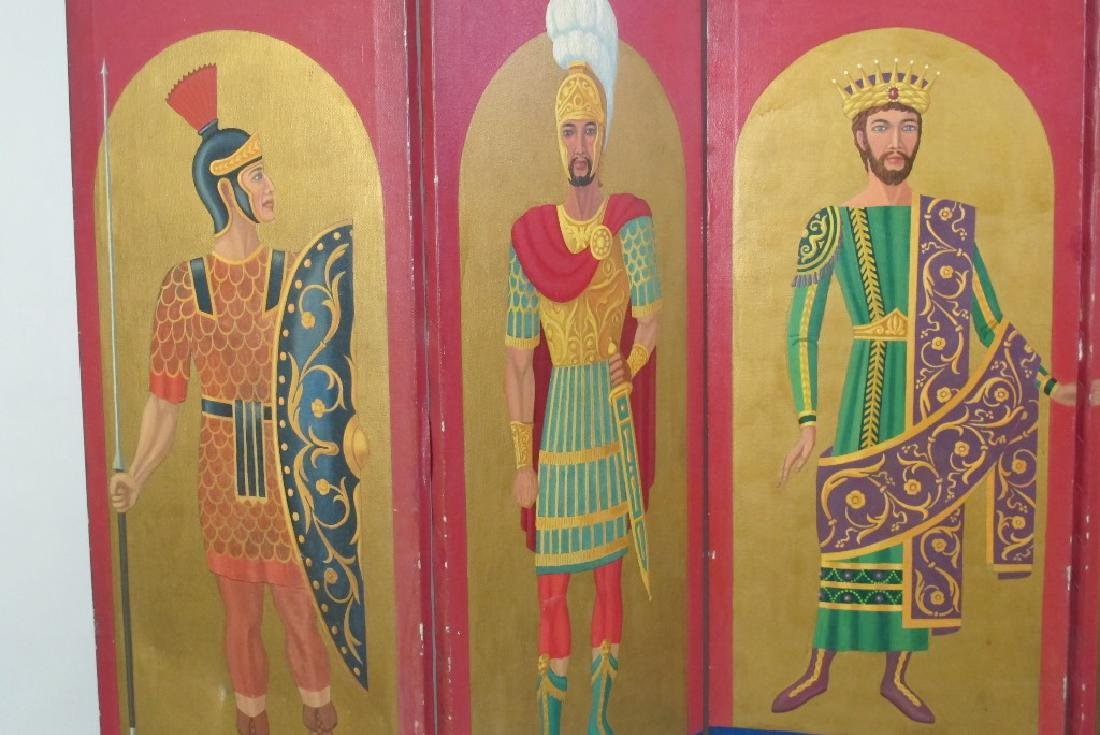 Hand Painted Roman Style Room Divider - 2