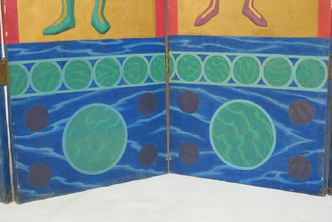 Hand Painted Roman Style Room Divider - 4