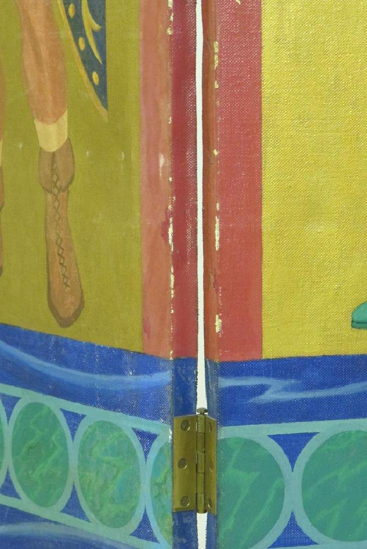 Hand Painted Roman Style Room Divider - 5