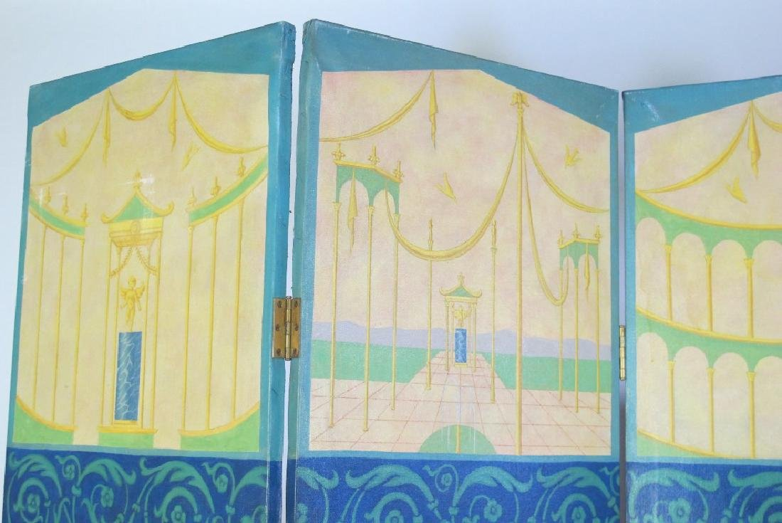 Hand Painted Roman Style Room Divider - 6