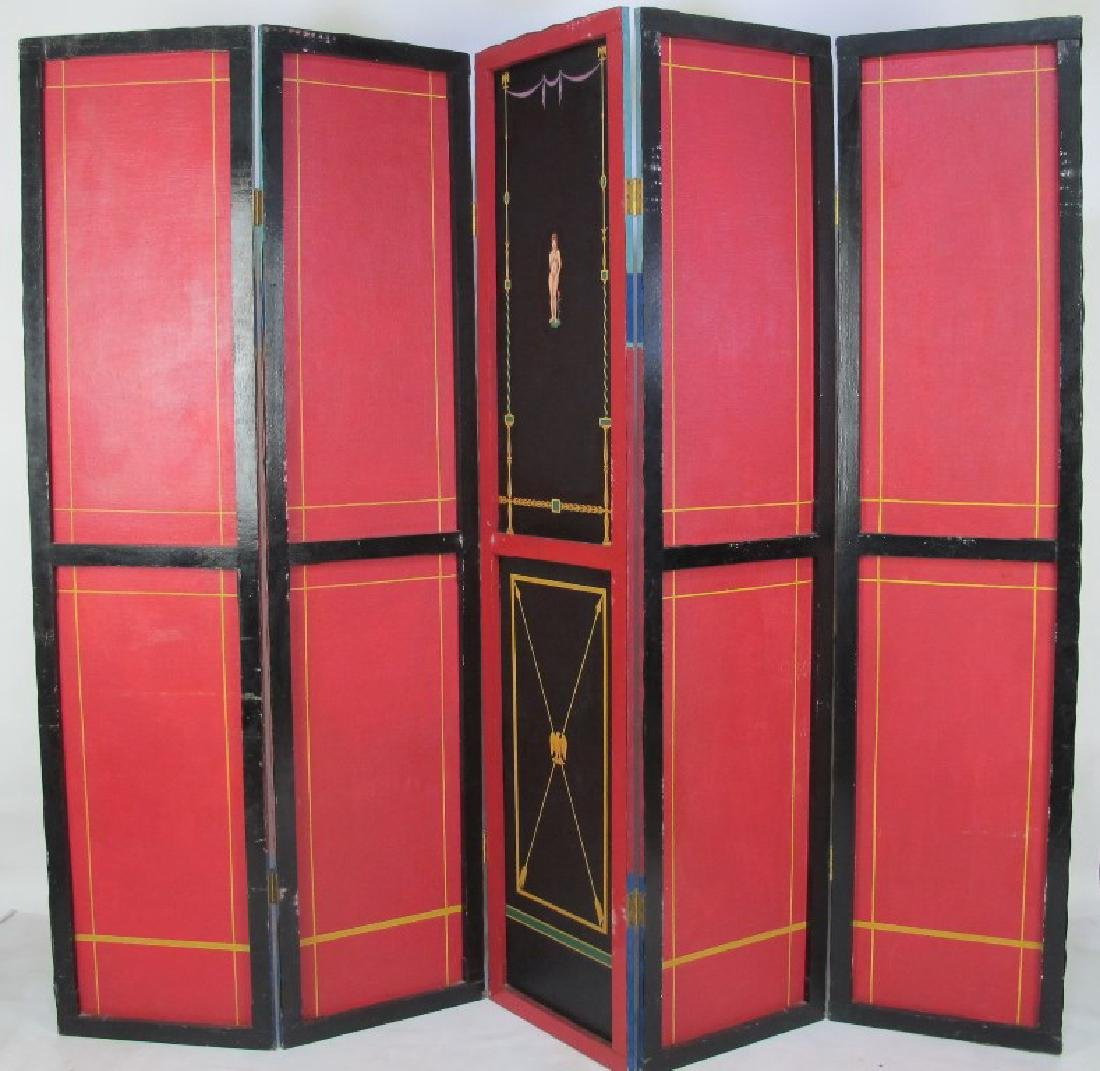 Hand Painted Roman Style Room Divider - 8
